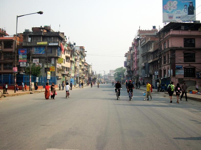 Kathmandu im Streik