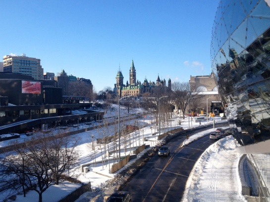 Blick zum Parliament Hill - View to Parliament Hill