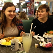 Pia and Christin at Zak's Diner